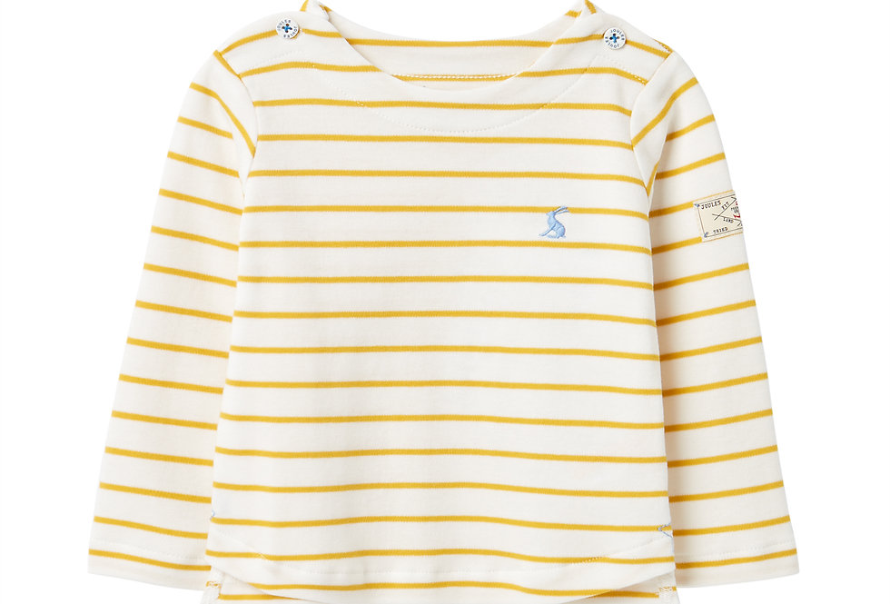 Joules Baby Harbour White and Yellow Stripe