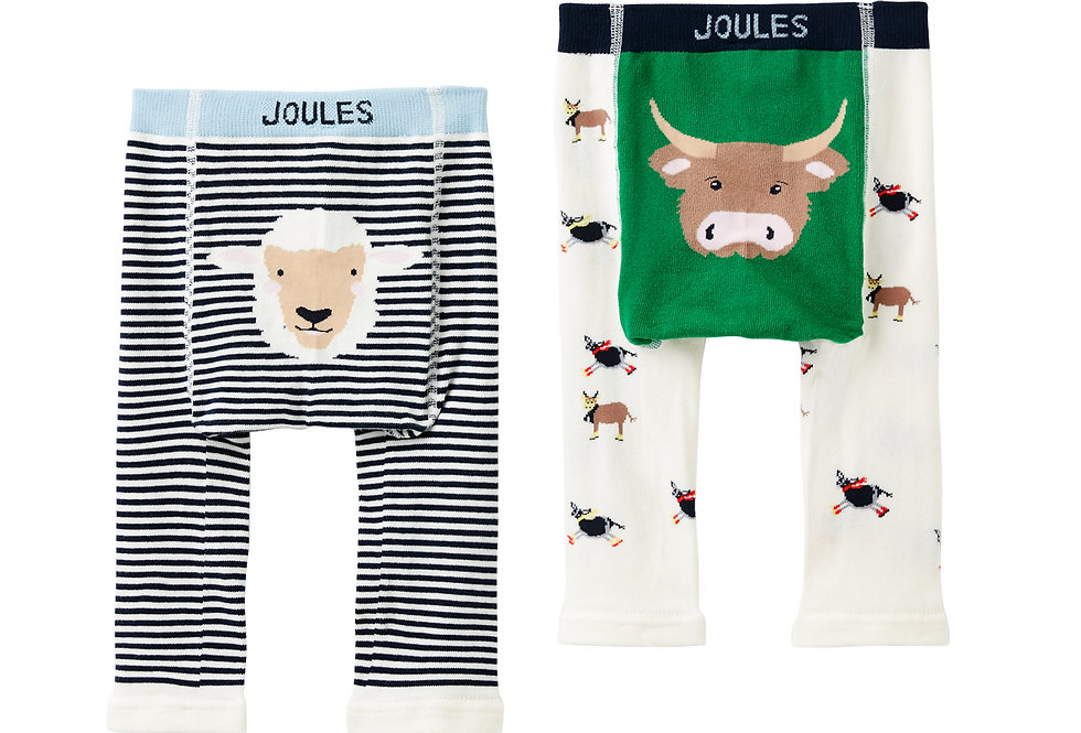 Joules Lively Leggings Cow and Sheep