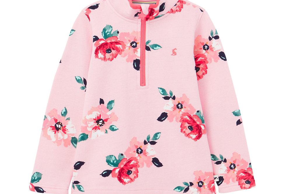 Joules Fairdale Pink Floral Sweatshirt