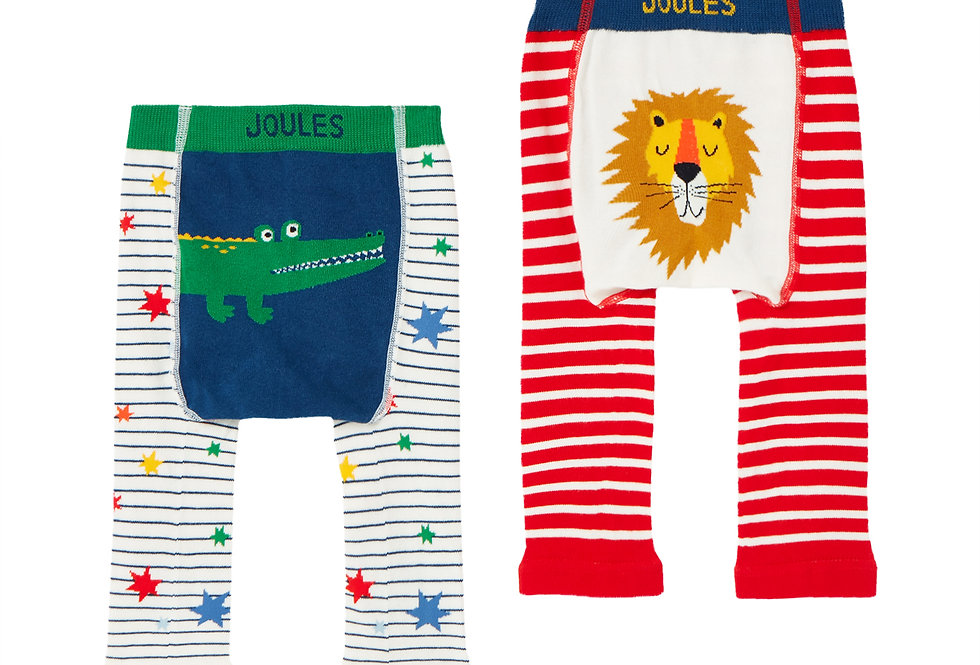Joules Lively Leggings Lion and Crocodile