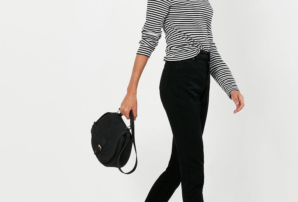 Joules Clarissa Black Stripe Roll Neck