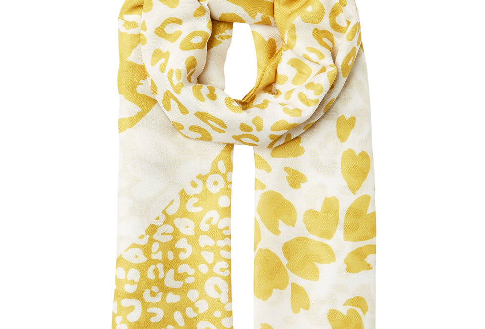 Joules River Scarf Gold Animal
