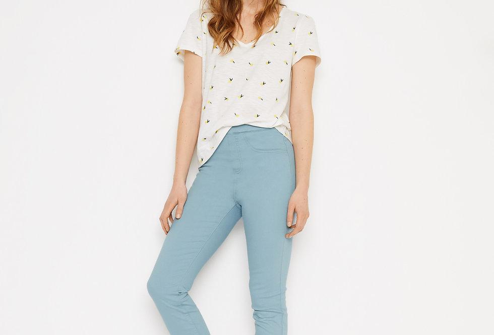 White Stuff Jade Jegging Crop Trousers Chalk Blue