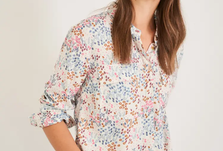 White Stuff Floral Printed Shirt