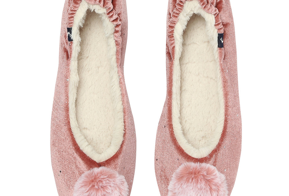 Joules Pombury Soft Pink Slippers