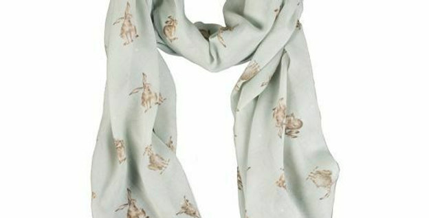 Wrendale Green Leaping Hare Scarf