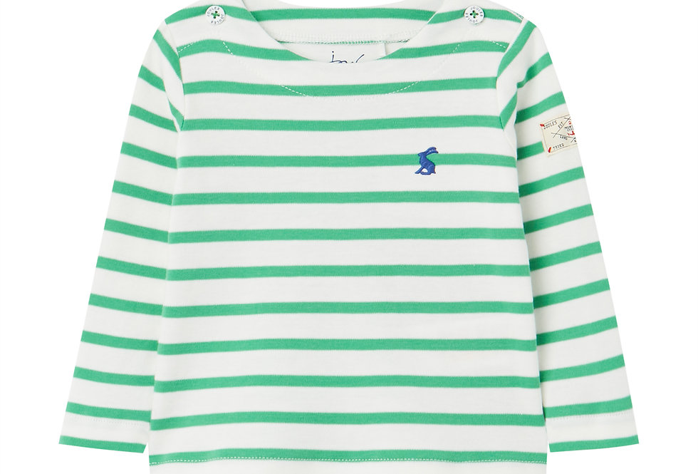 Joules Baby Harbour White and Green Stripe