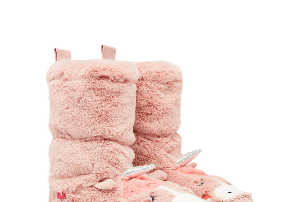 Joules Luxe Padabout Unicorn  Slipper Boots