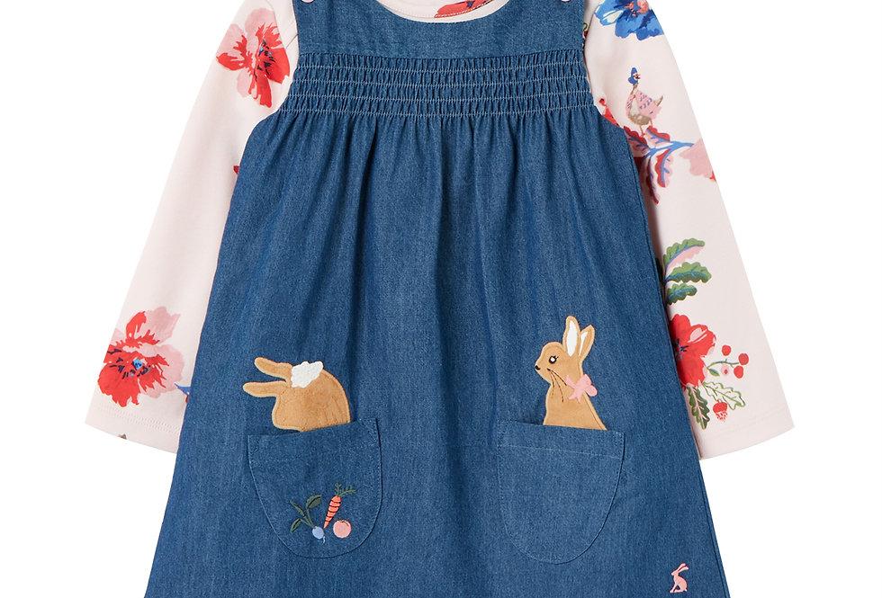 Joules Avie Peter Rabbit Pinafore Set