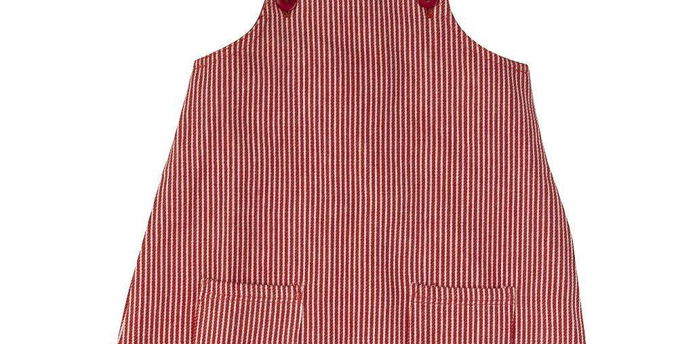 Pigeon Organics Apron Dress Red Stripe