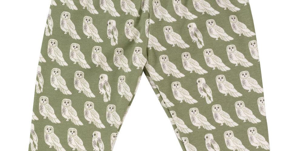 Pigeon Organics  Sage Green Owl Leggings