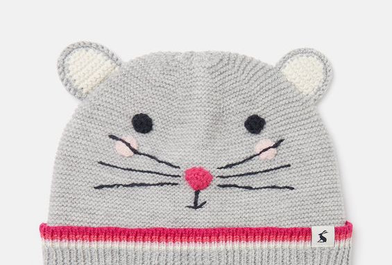 Joules Chummy Hat Grey Mouse