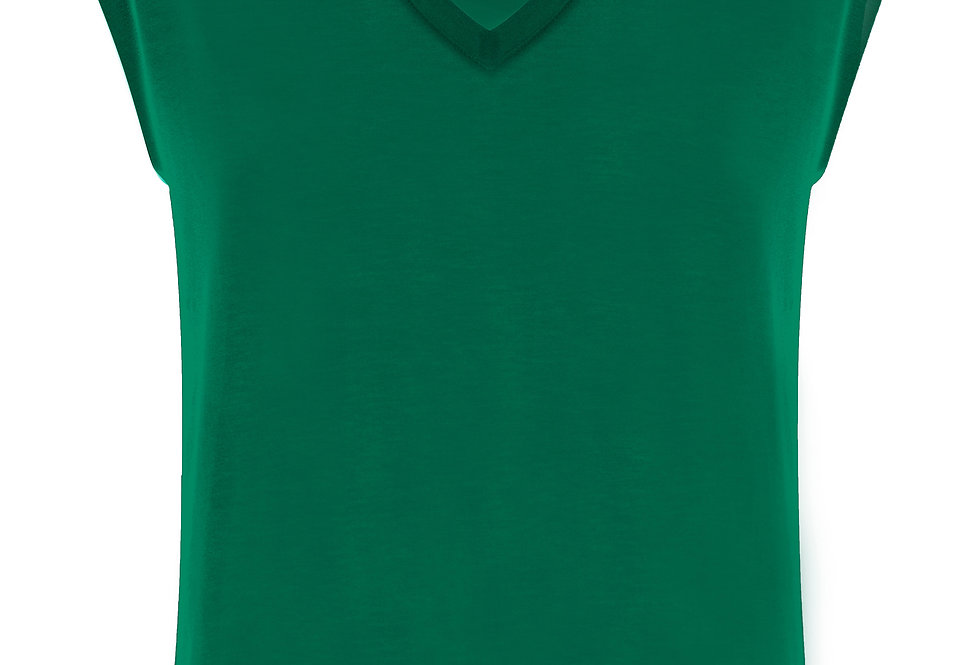 Great Plains Core Jersey V Neck Palm Green Top