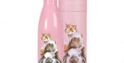Wrendale Water Bottle Piggy In the Middle  Design