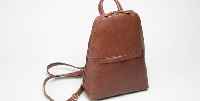Charles Smith Tan Leather Backpack