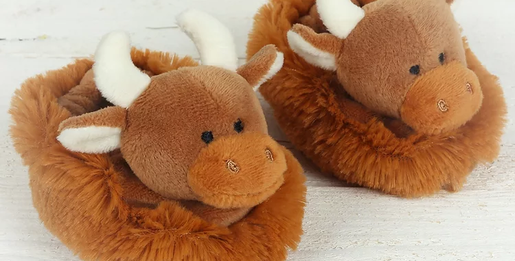 Jomanda Highland Cow Baby Slippers