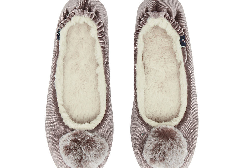 Joules Pombury Soft Lilac Slippers