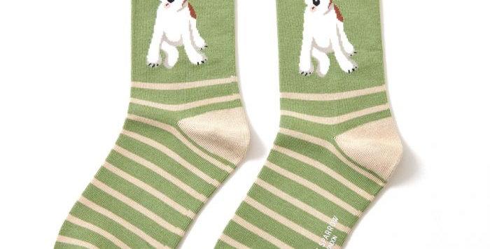 Miss Sparrow Fox Terrier Bamboo  Socks