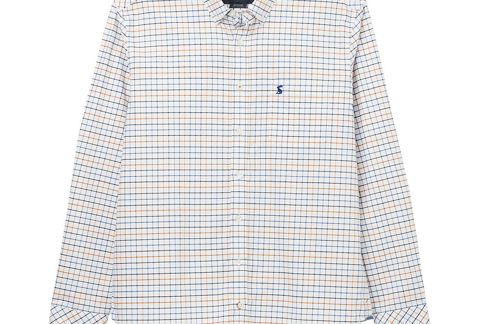 Joules Welford Classic Fit Shirt White/Blue Check