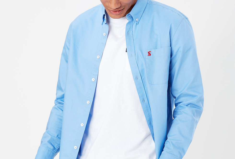 Joules Blue Oxford Classic Fit Long Sleeve Shirt