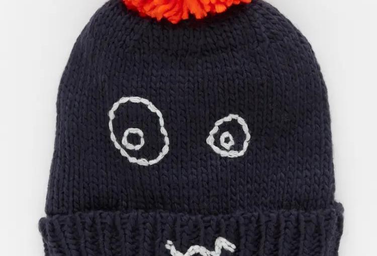 White Stuff Kids Funny Face Hat