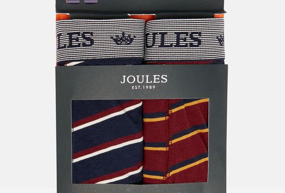 Joules Mens Pack of 2 Boxers Stripe