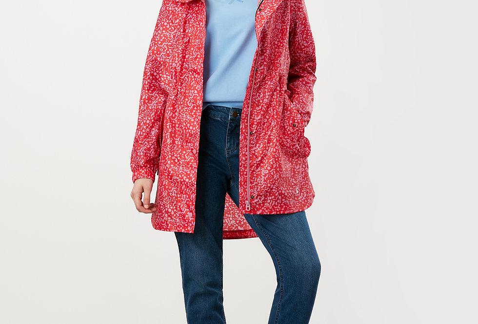Joules  Golightly Waterproof Red Butterfly Jacket