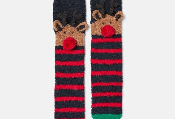 Joules Festive Fluffy Socks