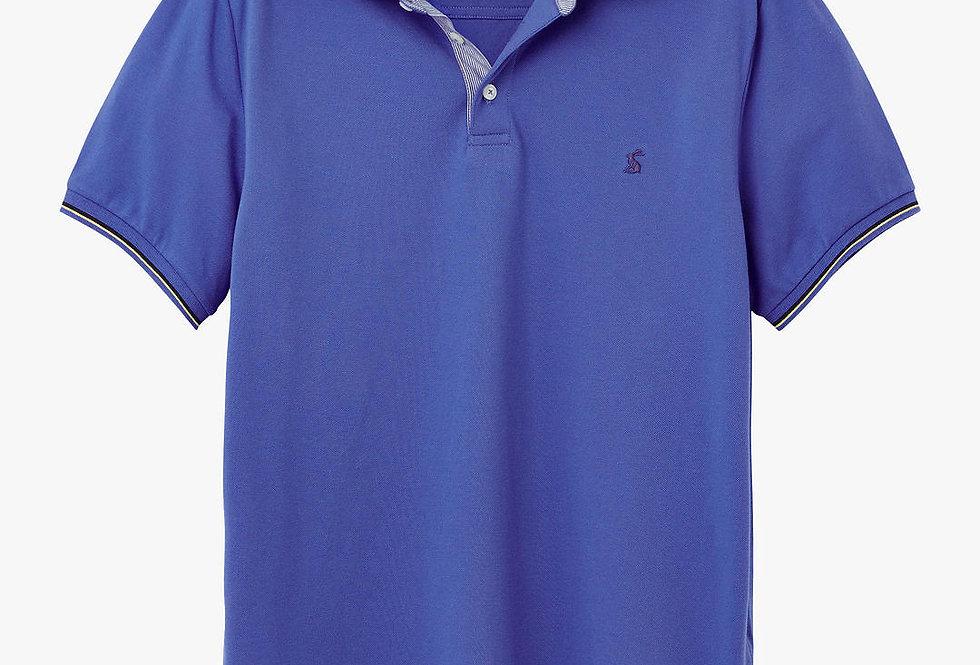 Joules Hanfield Posh Polo Shirt Blue