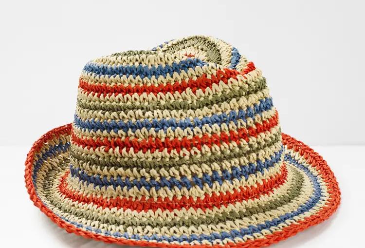 White Stuff Summer Striped Hat