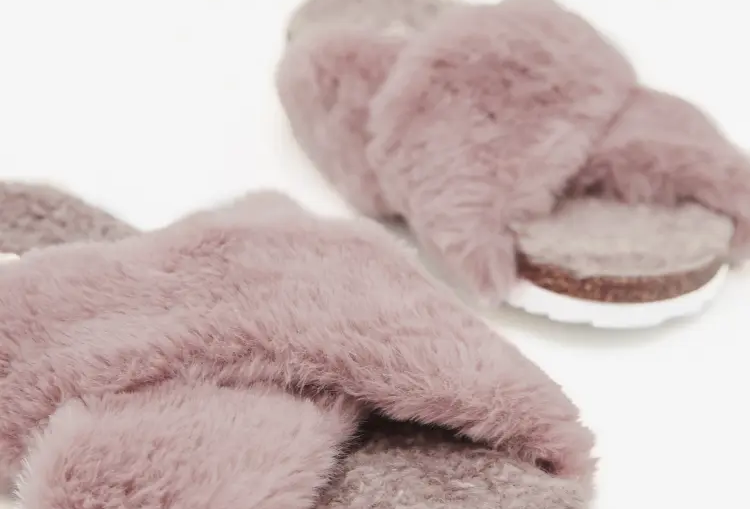 White Stuff Faux Fur Footbed Slipper