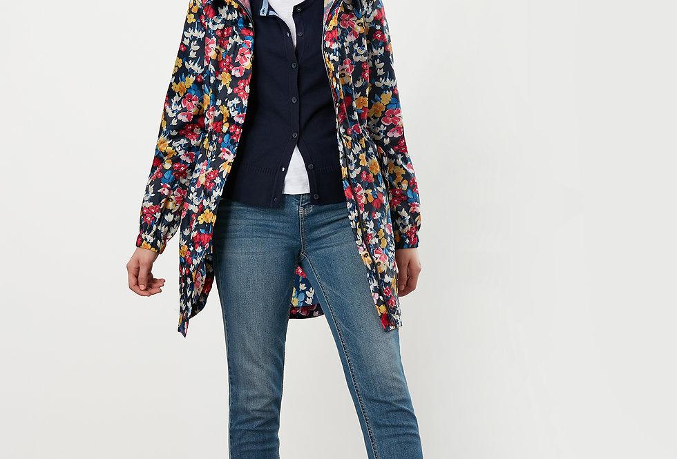 Joules Golightly Navy Floral Waterproof Jacket