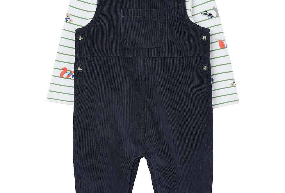 Joules Farnham Cord Dungaree Outfit