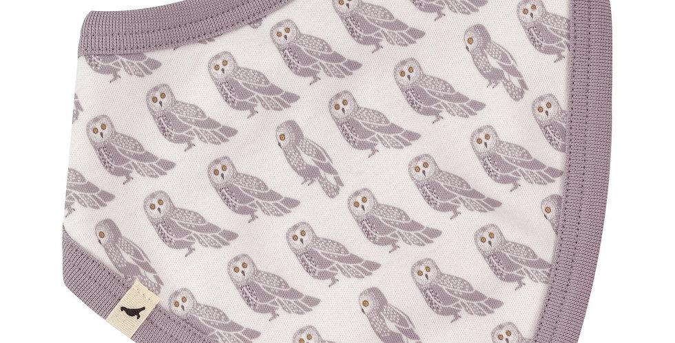 Pigeon Organics  Slate Owl/Stripe Reversible Bandana Bib