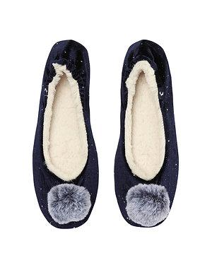 Joules Pombury Navy Slippers