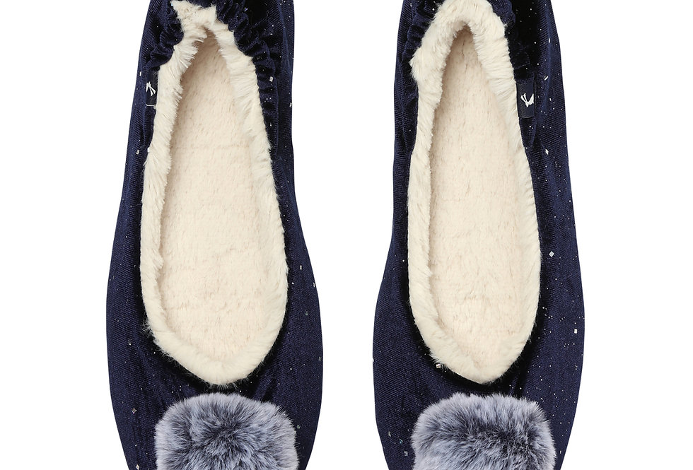 Joules Pombury Navy Slippers