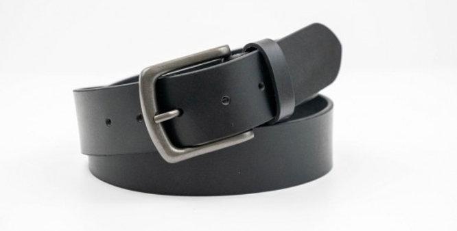 Charles Smiths Men's Leather Black Belt