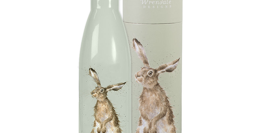 Wrendale Water Bottle Hare Design