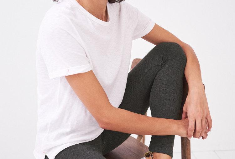 White Stuff Maddie Organic Leggings Grey Marl