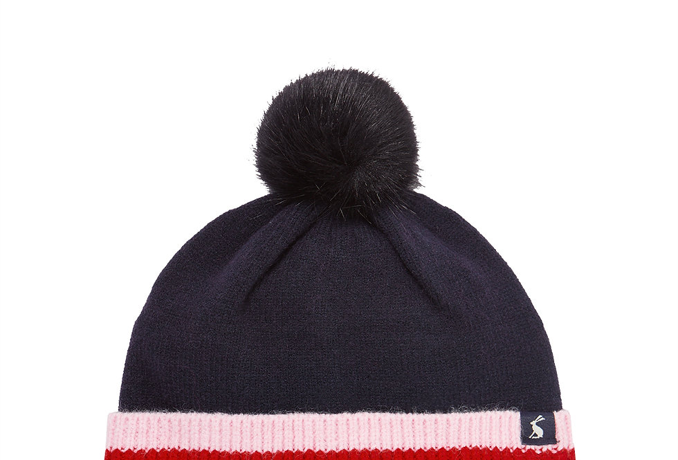 Joules Bobble Hat French Navy