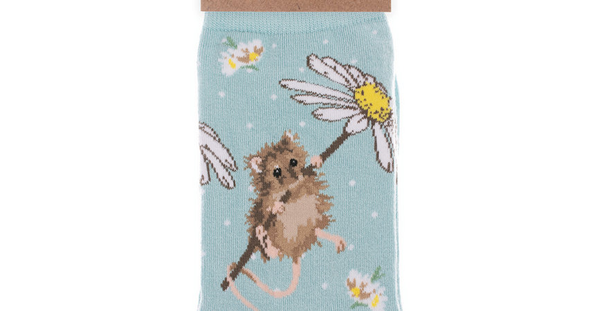 Wrendale Mouse Bamboo Socks and Gift Bag