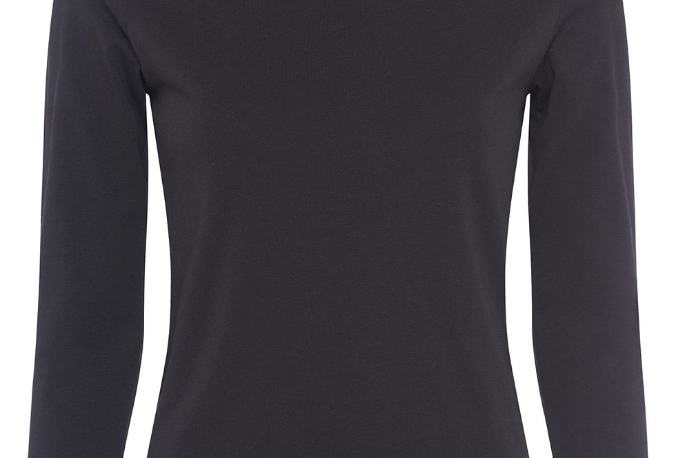 Great Plains Organic Cotton Black 3/4 Sleeved Top