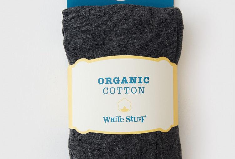 White Stuff Patty Plain Tights Charcoal Grey
