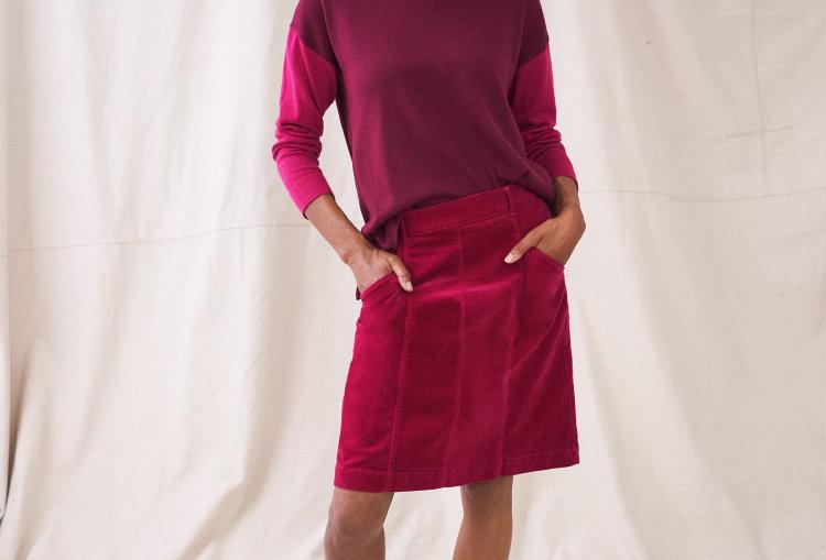 White Stuff Josie Dark Pink  Skirt