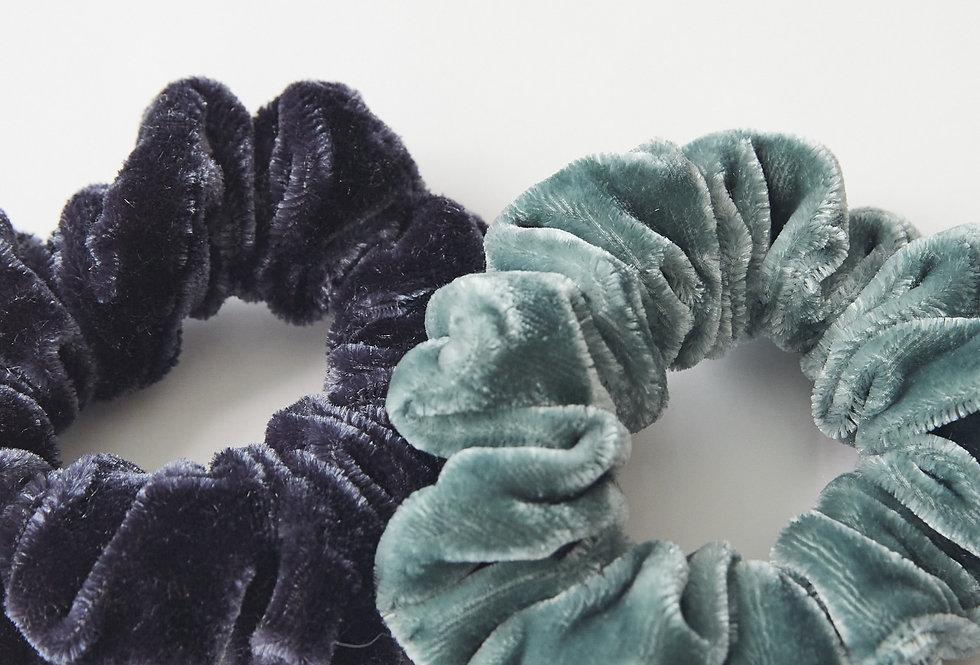 White Stuff 2 Pack of Velvet Off Cut Scrunchies