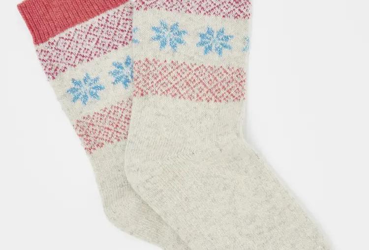 White Stuff Sparkle  Fairisle Boot Socks