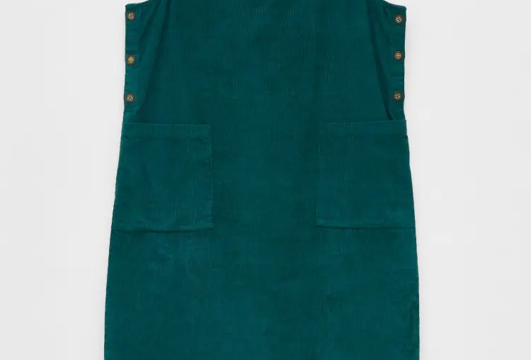 White Stuff Seedling Teal Pinafore