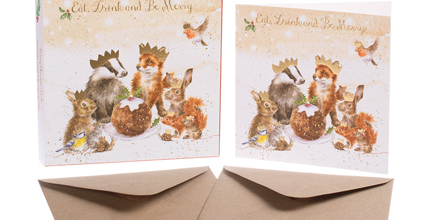 Wrendale The Christmas Party Christmas Card Boxed Set