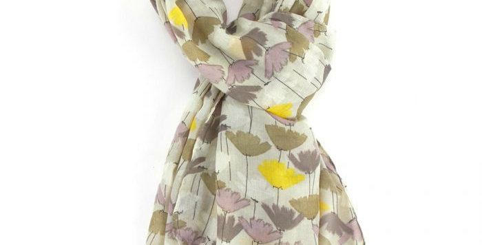 Miss Sparrow Scarf Tulips Olive