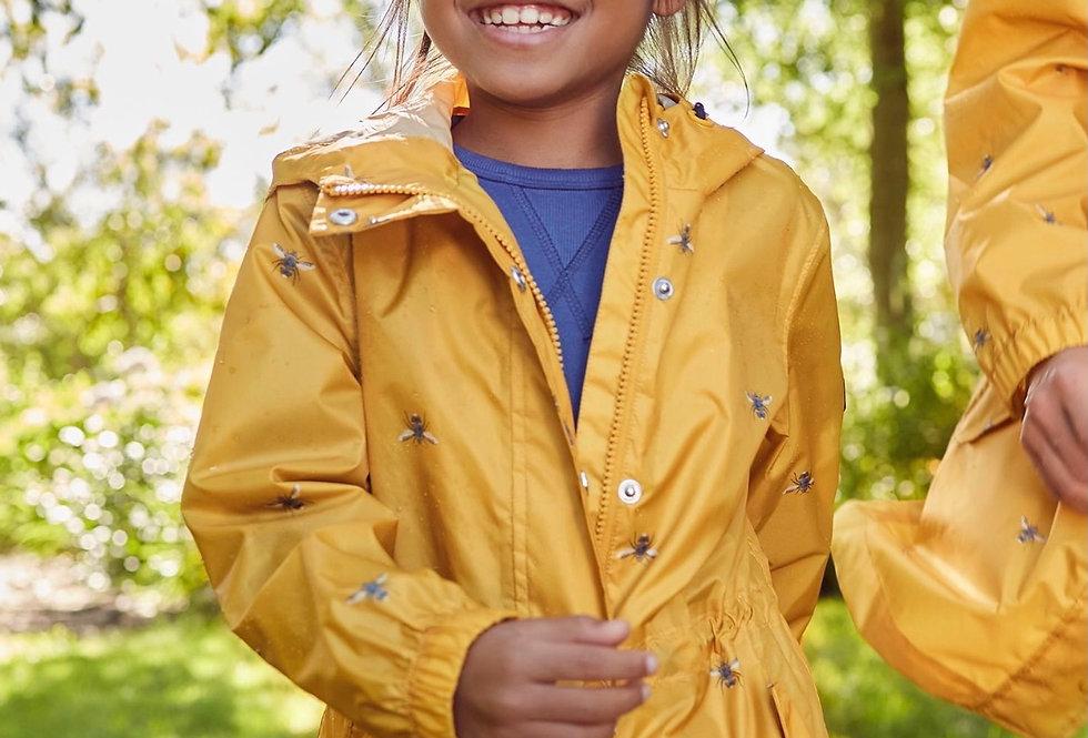 Joules Waterproof Golightly Bee Design Jacket
